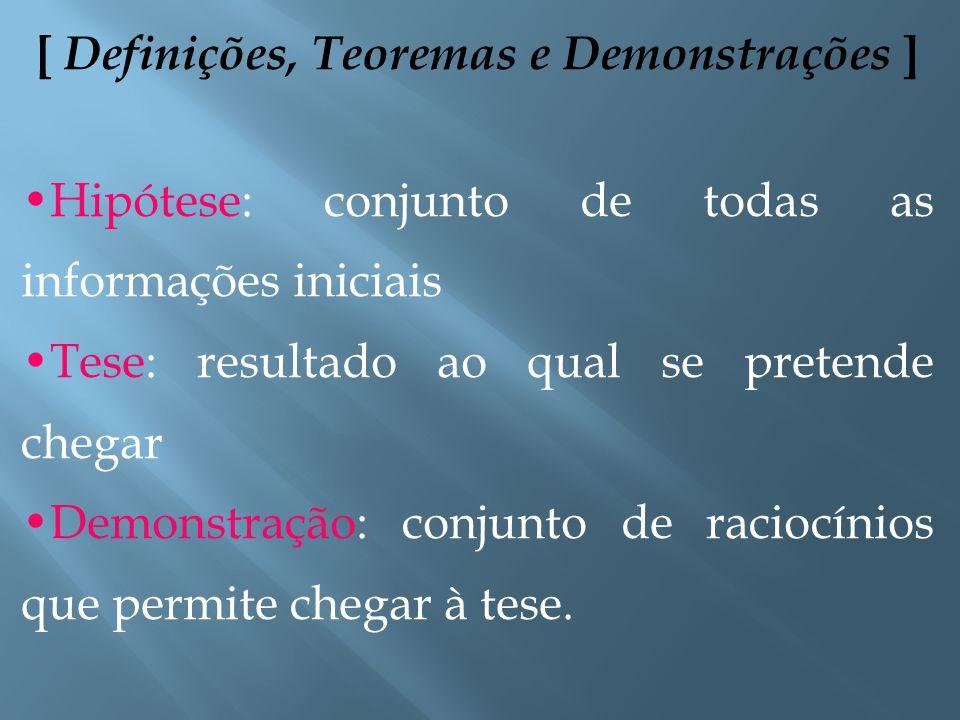 [ Definições, Teoremas e Demonstrações ]